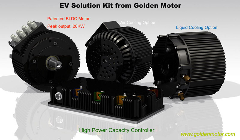 Electric Car Kit, Electric Motorcycle Motor,HPM10KW, Electric Car Motor